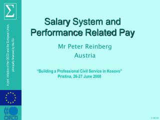 Salary System and Performance Related Pay