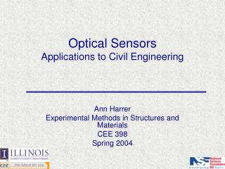 Optical Sensors Applications to Civil Engineering