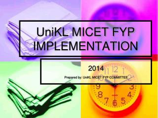 UniKL MICET FYP IMPLEMENTATION