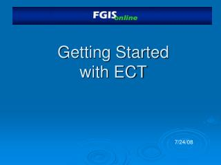 Getting Started with ECT