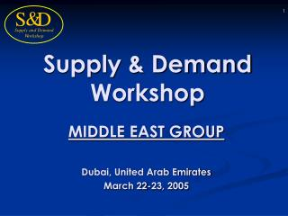 Supply & Demand Workshop