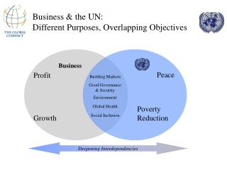 Business & the UN:  Different Purposes, Overlapping Objectives