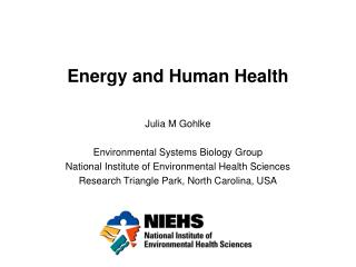 Energy and Human Health