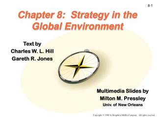 Chapter 8:  Strategy in the Global Environment