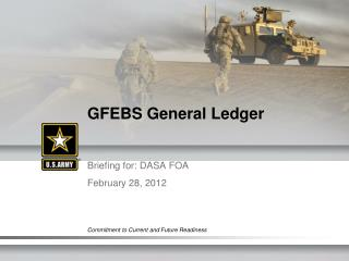 GFEBS General Ledger