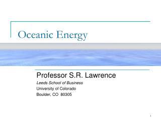 Oceanic Energy