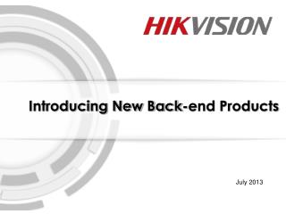 2013 Back-end New Products
