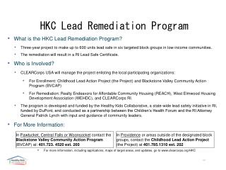 HKC Lead Remediation Program