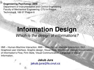 Information Design Which is the design of informations?