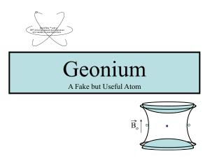 Geonium A Fake but Useful Atom