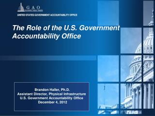 The Role of the U.S. Government Accountability Office