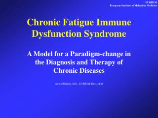 an introduction to the chronic fatigue and immune dysfunction syndrome 4 introduction chronic fatigue syndrome (cfs), also called chronic fatigue immune deficiency syndrome (cfids), is a group of disorders characterized by chronic fatigue and multiple.