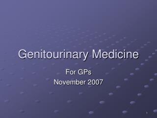 Genitourinary Medicine
