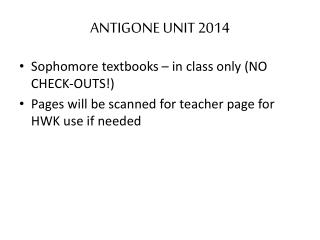 ANTIGONE UNIT 2014