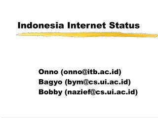 Indonesia Internet Status
