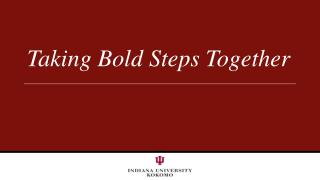 Taking Bold Steps Together