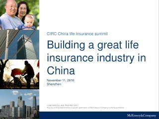 Building a great life  insurance industry in  China