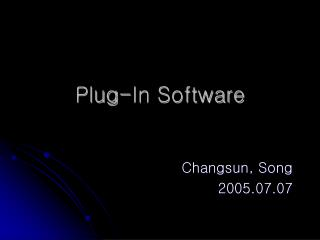 Plug-In Software