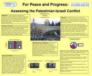 For Peace and Progress: Assessing the Palestinian-Israeli Conflict