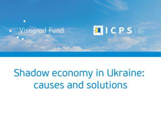 Ukraine's shadow economy in relation to GDP ( % )