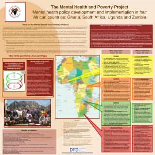 The Mental Health and Poverty Project Mental health policy development and implementation in four African countries: Gha