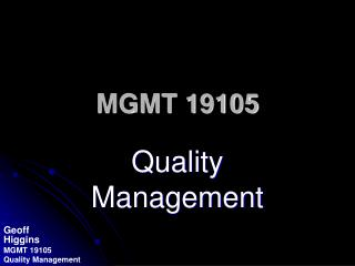 MGMT 19105