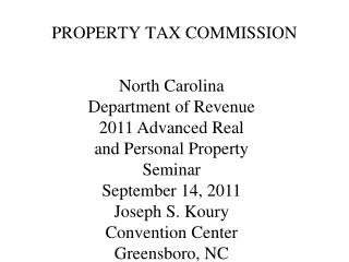 PROPERTY TAX COMMISSION