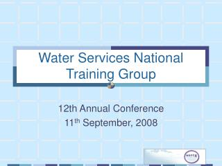 Water Services National Training Group