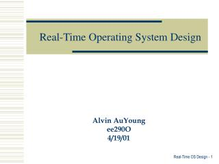 Real-Time Operating System Design