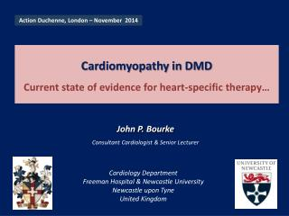 Cardiomyopathy in DMD Current state of evidence for heart-specific therapy…