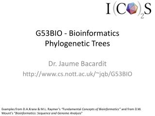 G53BIO - Bioinformatics Phylogenetic Trees