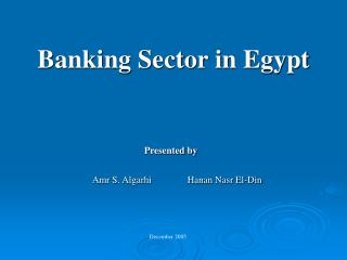 Banking Sector in Egypt