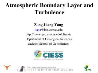 Atmospheric Boundary Layer and Turbulence