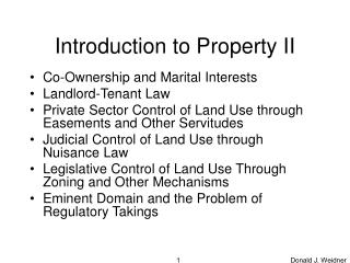Introduction to Property II