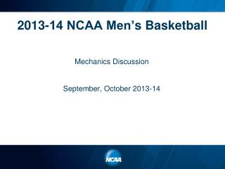 2013-14 NCAA Men' s Basketball
