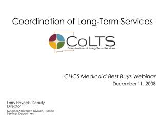 Coordination of Long-Term Services