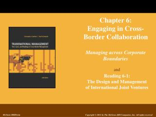 Chapter 6: Engaging in Cross- Border Collaboration Managing across Corporate Boundaries