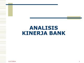 ANALISIS  KINERJA BANK