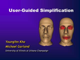 User-Guided Simplification