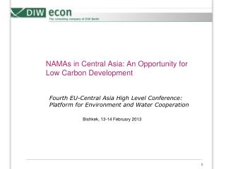 NAMAs  in Central Asia: An  Opportunity  for  Low Carbon Development
