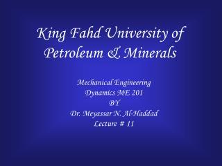 King Fahd University of Petroleum & Minerals