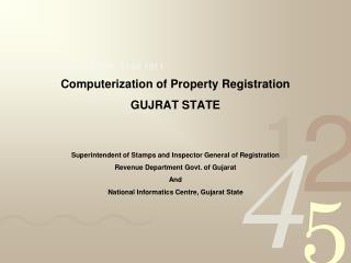 Computerization of Property Registration GUJRAT STATE