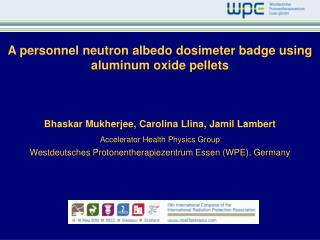 A personnel neutron albedo dosimeter badge using aluminum oxide pellets
