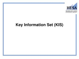 Key Information Set (KIS)