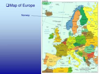 Map of Europe Norway