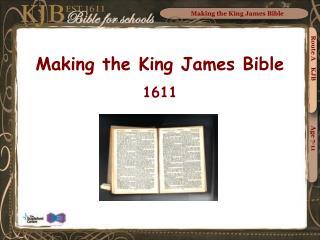 Making the King James Bible