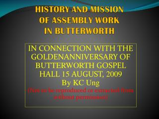 Recapitulation of Part 1 –  Do You know your Assembly History?