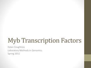 Myb Transcription Factors