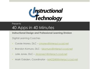 Presents 40  Apps in 40 Minutes