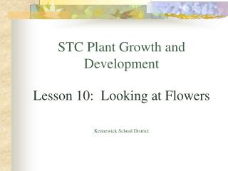 STC Plant Growth and Development Lesson 10:  Looking at Flowers Kennewick School District